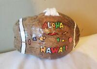 Aloha Hawaii Coconut Decor Tiki Bar Souvenir Hanging or Table Decoration