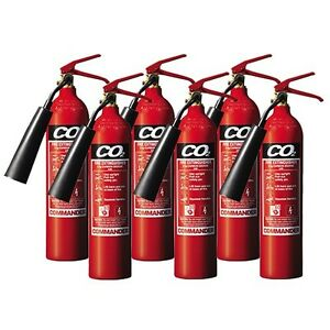 NEW BULK BUY: SIX x 2KG CO2 (CARBON DIOXIDE) FIRE EXTINGUISHER