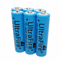 6X 3.7V 18650 Batteries 3800mAh Li-ion Battery Rechargeable for Flashlight Torch