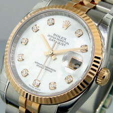 UNWORN ROLEX DATEJUST 116231 STEEL PINK GOLD JUBILEE WHITE MOTHER OF PEARL