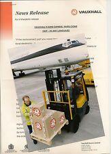Vauxhall euro express pièces communiqué de presse / photo aug 1996 * post uk gratuit *