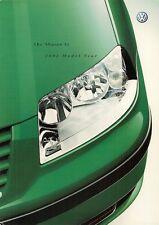 VOLKSWAGEN SHARAN SL 2002 UK Opuscolo Vendite sul mercato 2.0 1.8 T 1.9 2.0 TDI