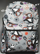 "DISNEY NIGHTMARE BEFORE CHRISTMAS BACKPACK 16"" JACK SALLY SKELLINGTON ALL PRINT"