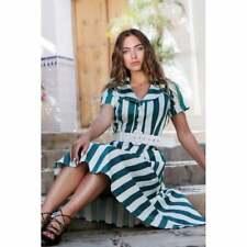 Collectif Vintage Brette Glade Stripe Swing Dress Size 10 (S)
