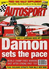 Autosport 21 No 1996 - Indycars - Andretti, NASCAR, Hill, Herbert, Macau F3.