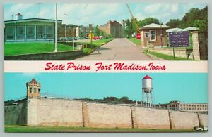 Fort Madison Iowa~State Prison Building~Vintage Postcard