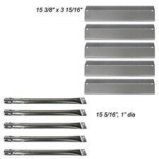 Brinkmann 810-2545-W 5 Burner Gas Grill Replacement Burners, Heat Plates