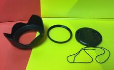 FLOWER LENS HOOD+UV FILTER+LENS CAP 67mm to SONY DSC-R1, P900, PENTAX 50-135