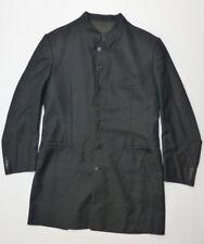 Tessuto Ermenegildo Zegna Mens L Black Button Front Coat Jacket Good Condition