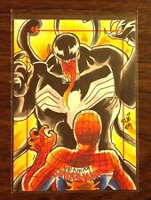 Venom Spider-Man Archives color sketch card 1/1 Sanna Umemoto
