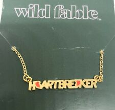 Wild Fable Gold Color HEARTBREAKER Fashion Necklace