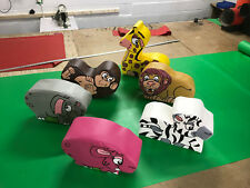6  x SMALL WILD Animal soft play set ideal soft play add on FREE POST NEW SET