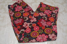 Vera Bradley Womens Floral Corduroy Pants Sz XS Multi-Color