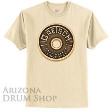 GRETSCH Beige Roundbadge Tee / Tshirt - Mens Large - Genuine Gretsch Apparel!