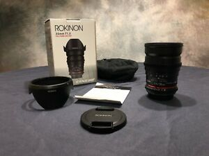 ROKINON 35mm t/1.5 Cine AS UMC Lens for Canon EF in Excellent Condition.