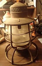 Antique Armspear New York Railroad Lantern, Missing Handle
