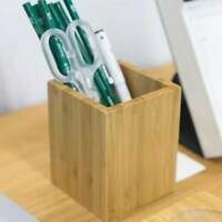 Wooden Pencil Holder Pen Desktop Student Stationery Office School Supplies LD