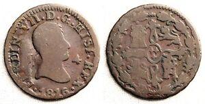 Fernando VII. 4 Maravedis 1816. Jubia. MBC-/VF-. Cobre 5,1 g. Muy escasa
