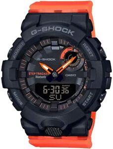 CASIO GMAB800SC-1A4 G-Shock Bluetooth Fitness Track Black Orange Women's Watch