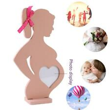 Pregnant Woman Wooden Photo Frame Baby Heart Table Decor Cute Home Decoration