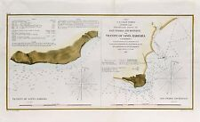 Antique U.S. Coast Survey Map San Padro and Santa Barbara California (1855)