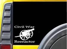 """Civil War Reenactor K532 6"""" Canon 2nd amendment sticker decal"""