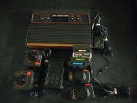 Atari 2600 5 games 2 controllers, paddles & touch pad bundle tested and working