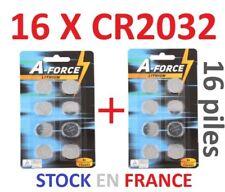 Lot 16 Piles bouton CR2032 CR 2032 Lithium PC calculatrice télécommande voiture