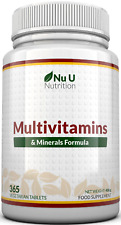 Multivitamins with Zinc, Vitamin C Vitamin D3 365 Vegetarian Tablets With Iron
