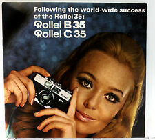 "Original Rollei B35 and C35 Sales Brochure ""Following The World-wide Success"""