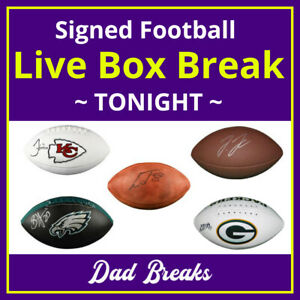 AFC WEST (4 NFL TEAMS) signed/autographed full-size football LIVE BOX BREAK