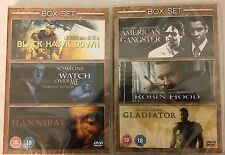 Gladiator-Robin Hood-American Gangster-Hannibal-Black Hawk Down (2xDVD)