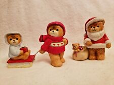 New listing Lucy and Me Bears Santa with Bag of Toys & Boy Pulling Sled