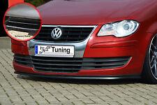 SPOILER spada front spoiler labbro in ABS per VW Touran 1t2 ABE NERO LUCIDO