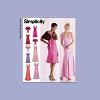 Misses Strapless Evening Dress Gown Capelet Sewing Pattern Simplicity 4875 Uncut