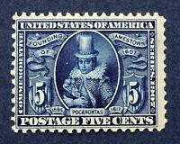 Scott US #330 - 1907 Jamestown Issue, 5 Cents; Mint Never Hinged; OG; CV=$350