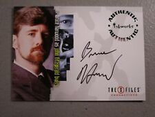 "The X-Files Inkworks Autograph Card ""Bruce Harwood/John Fitzgerald' Byers"""