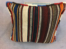Vintage KELIM Kissen Antik Perser Teppich / Flachgewebe 30x27 cm