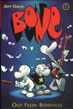 Bone Volume 1 Out from Boneville Hardcover GN Jeff Smith Cartoon Books 1st VF