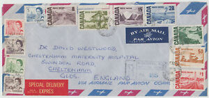Montreal, Que. Feb. 8, 1967 Centennial issue complete set first day cover to UK