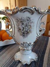 Vase mit SIlberbemalung (Tafelaufsatz)
