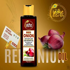 The Indie Earth Red Onion Hair Oil for Growth with Argan,Jojoba,Rosemary 200ml