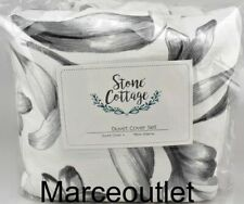 Stone Cottage Kentville Floral 100% Cotton King Duvet Cover & Shams Set Gray