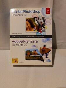 Adobe Photoshop Elements 10 + Premiere Elements 10 Sealed Win Mac