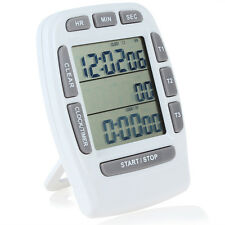 3-Line LCD Triple Digital Clock & Countdown Stopwatch for Kitchen Cooking Tools