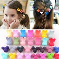 30Pcs Baby Kids Girls Cute Claw Mixed Flowers Candy Mini Hair Clips Headdress