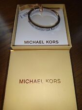 MICHAEL KORS Silver Tone Bangle  BRILLIANCE BRACELET Crystals~MKJ2746040 +MK BOX