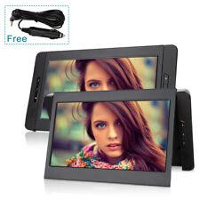 "2 x10,1"" Tragbare DVD Player Auto Monitor Kopfstützen Bildschirm AV-IN OUT AKKU"
