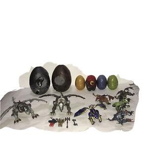 Rare Mega Bloks Dragons Eggs And Mini Figures With Weapons Bundle Lot