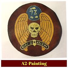 WW2 Hand Painted 72nd Bomb Sqd 5th Bomb Grp Leather Patch For A2 Jacket